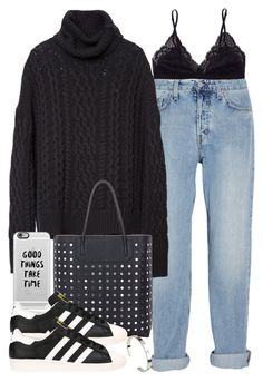 """Untitled #3346"" by hellomissapple on Polyvore featuring Talula, MiH Jeans, Alexander Wang, Casetify, adidas and Cartier"