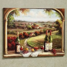 Picnic in Sonoma Canvas Wall Art Kitchen