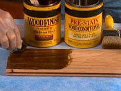 getting ready to stain a coffee table--good tips