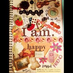 """my """"Smash Book""""~ """"I Am"""" page... so much fun!!! 