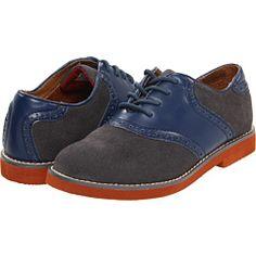 florsheim kids grey suede saddle shoes
