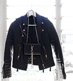 leather + ysl