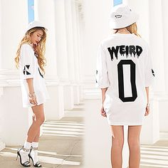 Myvl Clothing Weird 0 Jersey, Misbhv White Bucket Hat, Jeffrey Campbell Malice Sandal
