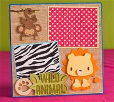 Here is a fun layout show off your little wild animals!