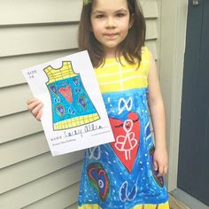 """Say hi to Lacey, a bonus Tuesday Featured Friend!! She's 8 years old, and told her mom """"Nothing in particular inspired my design, I just sat down and started drawing - I love fairies and drawing hearts."""" We think that neat heart design is super cool, Lacey! ❤️❤️ #picturethisclothing #picturethis#wearyourimagination #kidfashion #kidart #hearts"""