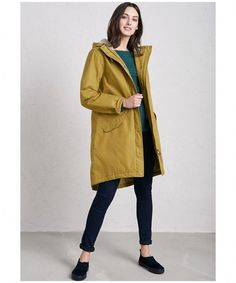 5b2cdf411789 The Plant Hunter Coat is a relaxed fit, parka-style women's raincoat made  from polyester. It falls to mid-thigh & is waterproof, windproof &  breathable.