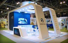 Fotos del stand diseñado y construido para Grupo Otua para la feria SRR de Madrid