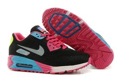 Nike Air Max 90 Gris Rojo De Rosa Negro High Inside Zapatillas