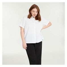 Plus Size Stores, Shirt Blouses, Shirts, Joe Fresh, Striped Tee, Shirt Sleeves, Poplin, Normcore, Front Button