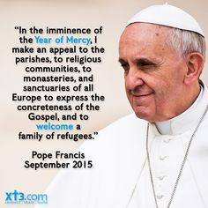 Thank you #PopeFrancis for giving the world an example of #Christian compassion and justice amidst the mounting #refugee crisis!