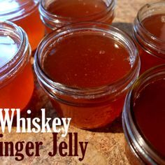 Whiskey Ginger Jelly- Putting Up with Erin Bourbon Recipes, Jam Recipes, Canning Recipes, Whiskey Ginger, Bourbon Whiskey, Mango Jam, Canning Pickles, Ginger Slice, Jam And Jelly