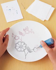 Painting ceramic plates and baking in your oven at home! A whole new world...