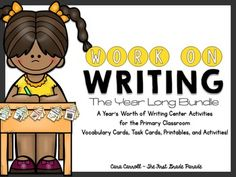 """Buy the bundle and SAVE!!!!!!   If you're anything like me, you are constantly trying to improve your writing station. Searching for new ideas, scrambling to get things prepped and ready, wishing you had """"just one more thing"""" to keep your kids excited about writing and engaged in the process."""