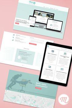 Frisches, modernes Webdesign für die Startseite unserer Website. #webdesign #designinspo #websitedesign