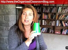 Use green, yellow, and red colored cups for group work.  When a table gets too loud, change the cup to yellow.  If the table continues to be too loud, the cup gets changed to red; this means a loss of group time.  Students now have to do their work independently and silently. - LOVE this nonverbal way to tell students they are too loud!!