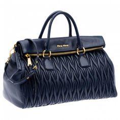 Handbag Miu Miu matelass� blu