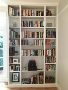 Ikea hack done! Three Billy bookcases.