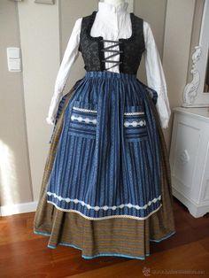 delantal para traje regional