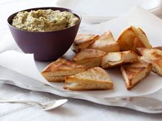 White Bean Dip with Pita Chips Recipe | Giada De Laurentiis | Food Network