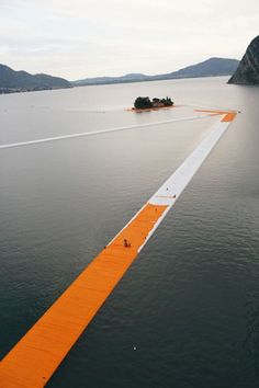 """The Floating Piers"" by Christo & Jeanne-Claude Lake Iseo Italy"