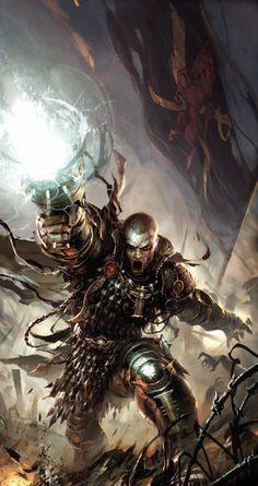 More Warhammer image Warhammer Books, Warhammer 40k Art, Warhammer 40k Miniatures, Fantasy Warrior, Fantasy Art, Dark Fantasy, Warhammer Inquisitor, Post Apocalypse, The Grim