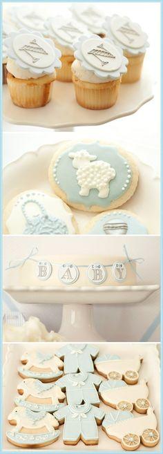 Boy baby shower desserts