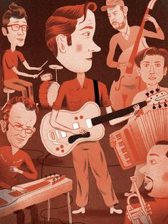 Calexico for The New Yorker by Bjørn Rune Lie Brian Wilson, Pli, The New Yorker, Runes, Disney Characters, Fictional Characters, Tumblr, Disney Princess, Illustrations