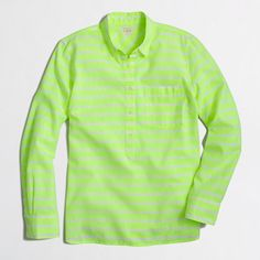 J.Crew Factory - Factory neon-striped popover shirt