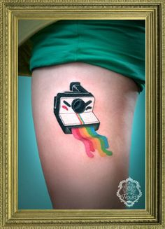 rainbow camera tattoo!
