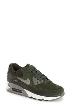 Free shipping and returns on Nike 'Air Max 90' Sneaker (Women) at Nordstrom.com. Metallic accents liven up a streamlined version of Nike's classic Air Max 90 sneakeroutfittedwith an air-cushioned footbed for signature Nike comfort.Smoothpanels of suede and leather dial up the street-savvy style.