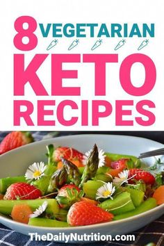 When you're a vegetarian on the ketogenic diet, you will have a lot more restrictions than other people on keto. Here are 8 keto vegetarian recipes that everyone can enjoy. Cyclical Ketogenic Diet, Ketogenic Diet Food List, Ketogenic Recipes, Diet Recipes, Diet Foods, Healthy Recipes, Tasty Meals, Paleo Diet, Diet Meal Plans To Lose Weight