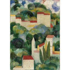 Amadeo de Souza-Cardoso, Titre inconnu (Bellevue), vers 1911-1912, Lisbonne, CAM / Fundação Calouste Gulbenkian