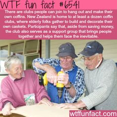 kiwi coffin club - WTF fun facts