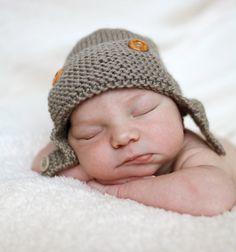 Aviator Hat Knitting Pattern Baby to Child sizes (pdf) - Regan. $4.00, via Etsy.