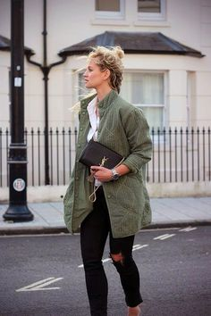 classic. tomboy. green. layers. fall.