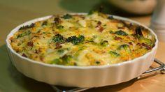 fritata met witloof en orvalkaas Quiche, Foodies, Breakfast, Broccoli