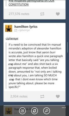 "Hamilton-- ""even if i said what you think i said, you would have to cite a more… Hamilton Lin Manuel Miranda, Hamilton Fanart, Hamilton Musical, Out Of Touch, Fandoms, Alexander Hamilton, Founding Fathers, Humor, Musical Theatre"
