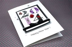 """Luxury Boxed New Year Card """"Happy New Year"""""""