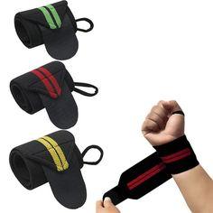 1 unidades del Levantamiento de Pesas de Correa de Fitness Gym Sport Wrist Wrap Muñequera Vendaje de La Mano