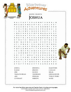 Bible Word Search: Joshua