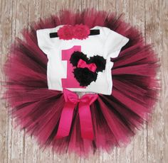 Fuchsia Pink Minnie Mouse First Birthday Tutu Set...Pink by Zobows, $39.75