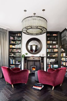 This Victorian villa has rich tones and luxe finishes, plus a little hotel-chic style thrown in to make visitors feel at home (Livingetc, Oct Interior Exterior, Home Interior, Interior Design, Home Design, Design Ideas, Living Room Decor, Living Spaces, Living Rooms, Living Area