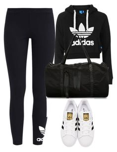 """""""Untitled #368"""" by lionessrose ❤ liked on Polyvore featuring adidas Originals, Topshop and Nicopanda"""