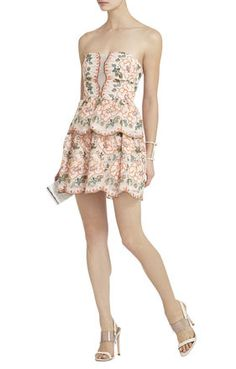 Giuliana Embroidered Strapless Dress #bcbg  This one is different for me but I can't get it out of my head