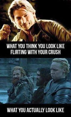 Game of Thrones. watching my friends faces when they see their crushes looks exa. - Game Of Thrones Game Of Thrones Meme, Winter Is Here, Winter Is Coming, Got Memes, Funny Memes, Hilarious, Funny Gags, Movie Memes, Memes Humor