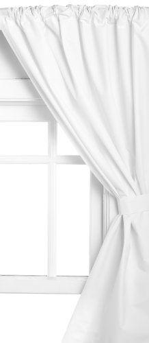 Carnation Home Fashions Fabric Bathroom Window Curtain, 36-Inch by ...