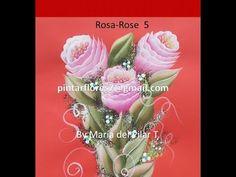 One stroke painting roses. Как написать розы маслом. Come dipingere la r...
