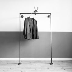 Beautiful Kleiderschr nke Kleiderst nder Stahlrohr Kleiderschrank Garderobe ein Designerst ck von various shop bei DaWanda