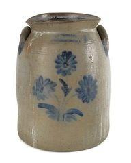 Rare 1800s Antique Stoneware Water Bottle Ceramic