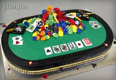 Poker Table Cake - Cake by MLADMAN - For all your cake decorating supplies, please visit craftcompany.co.uk